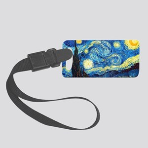 starry night mini wallet Small Luggage Tag