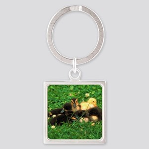 ducklings Square Keychain