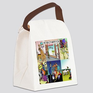 dog_calendar_cover_front Canvas Lunch Bag