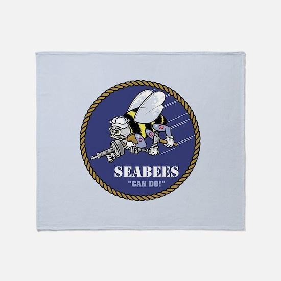 U.S. Navy Seabees Throw Blanket