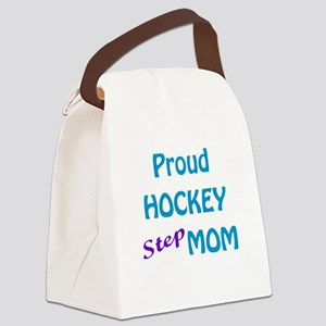 White Sticks Blue and Purple Canvas Lunch Bag