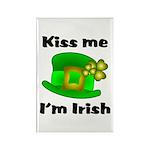Kiss Me I'm Irish Hat Rectangle Magnet (10 pack)