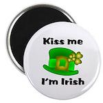 Kiss Me I'm Irish Hat Magnet