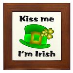 Kiss Me I'm Irish Hat Framed Tile