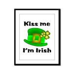 Kiss Me I'm Irish Hat  Framed Panel Print