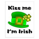 Kiss Me I'm Irish Hat Small Poster