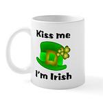 Kiss Me I'm Irish Hat Mug