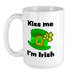 Kiss Me I'm Irish Hat Large Mug