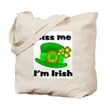 Kiss Me I'm Irish Hat  Tote Bag