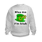 Kiss Me I'm Irish Hat Kids Sweatshirt