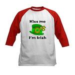 Kiss Me I'm Irish Hat Kids Baseball Jersey