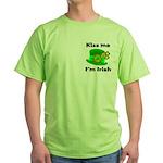 Kiss Me I'm Irish Hat Green T-Shirt