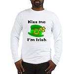 Kiss Me I'm Irish Hat Long Sleeve T-Shirt