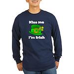 Kiss Me I'm Irish Hat Long Sleeve Dark T-Shirt