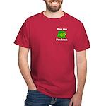 Kiss Me I'm Irish Hat Dark T-Shirt