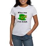 Kiss Me I'm Irish Hat Women's T-Shirt