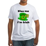 Kiss Me I'm Irish Hat Fitted T-Shirt