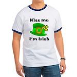 Kiss Me I'm Irish Hat Ringer T