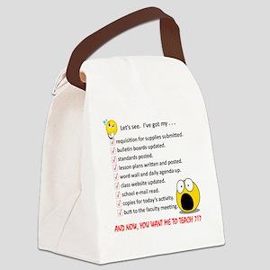 WhiteLetsSee Canvas Lunch Bag