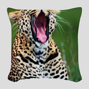 cheetah Woven Throw Pillow