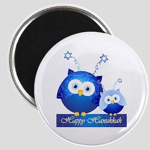 Happy Hanukkah Owls Magnets