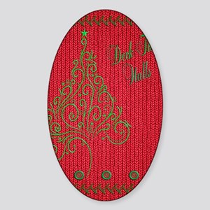 Knit_Red_DeckTW_KindelSleeve Sticker (Oval)