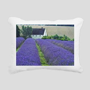 Snow Hill Lavender Farm Rectangular Canvas Pillow