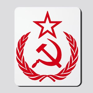 hammer sickle red Mousepad