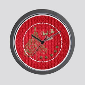 Knit_Red_DTH_clock Wall Clock