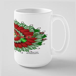 Stocking Wreath Large Mug