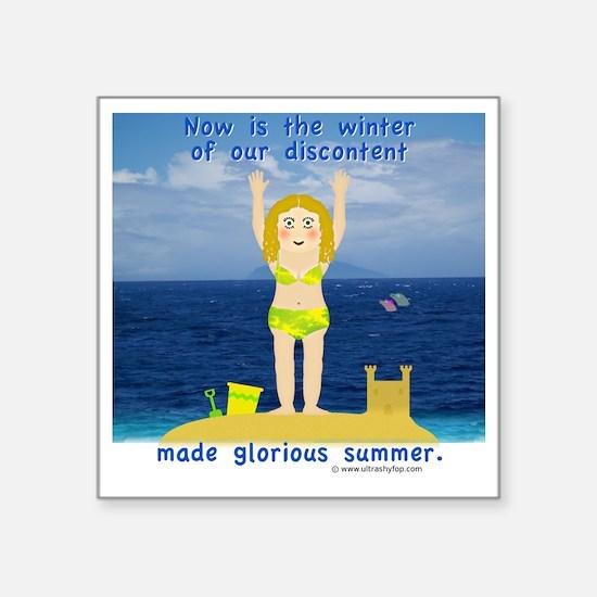 """Summer Rosie Square Sticker 3"""" x 3"""""""