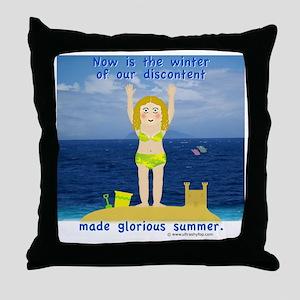 Summer Rosie Throw Pillow