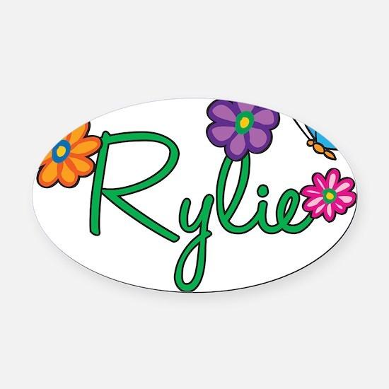 Rylie Oval Car Magnet