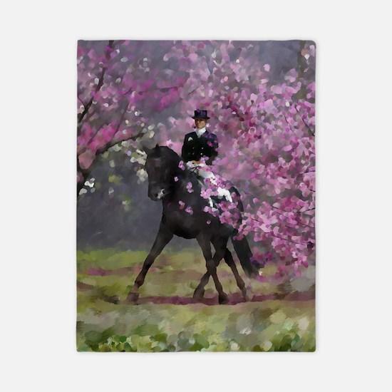 dressage horse 8x11 Twin Duvet