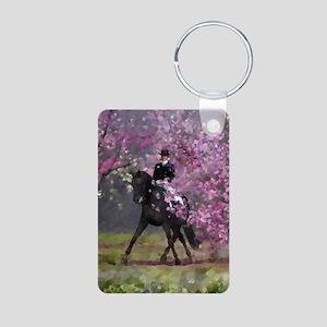 dressage horse 8x11 Aluminum Photo Keychain