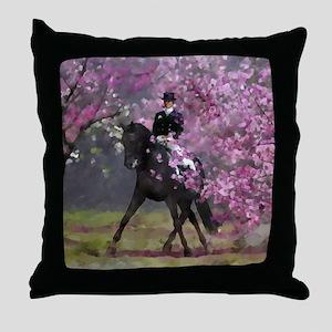 dressage horse 8x11 Throw Pillow