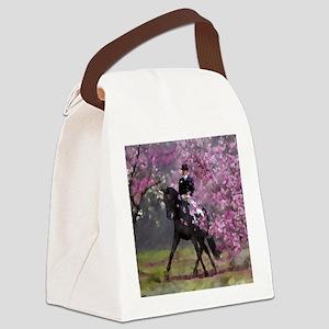 dressage horse 8x11 Canvas Lunch Bag