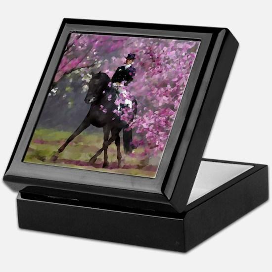 dressage horse 8x11 Keepsake Box