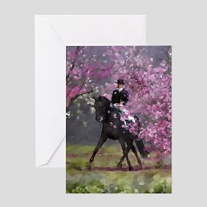 dressage horse 8x11 Greeting Card