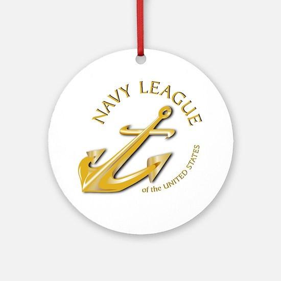 Navy League Ornament (Round)