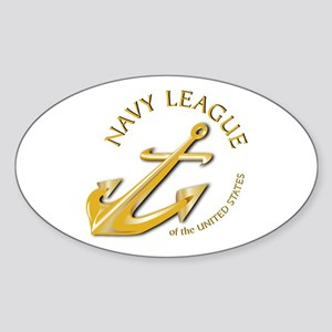 Navy League Oval Sticker