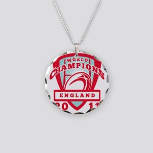 Rugby ball England World Cha Necklace Circle Charm
