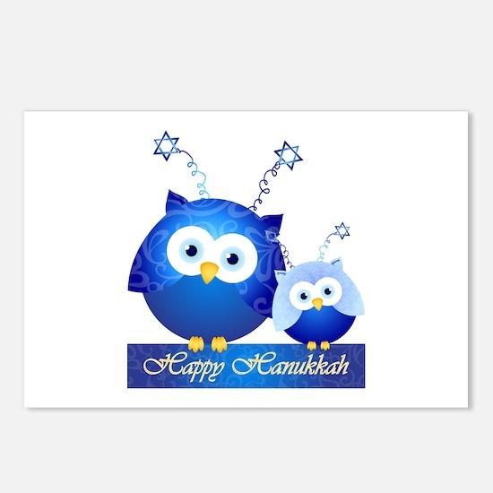 Happy Hanukkah Owls Postcards (Package Of 8)