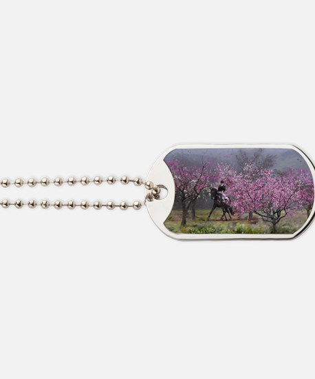 dressage horse 12x20 Dog Tags