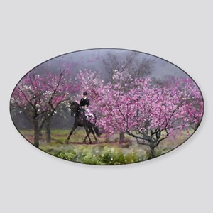 dressage horse 12x20 Sticker (Oval)