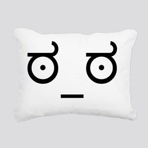 look_of_disapproval Rectangular Canvas Pillow