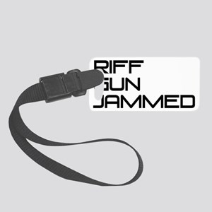 Riff-Gun-Jammed-black Small Luggage Tag