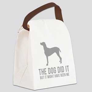 dogDitIt3 Canvas Lunch Bag
