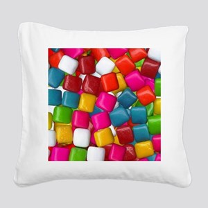 chicklets Square Canvas Pillow
