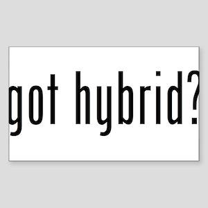 got hybrid? Rectangle Sticker